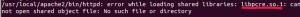 libpcre.so.1 error