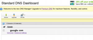 DNS dashboard